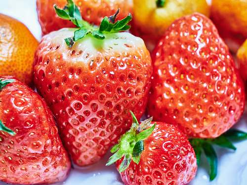 strawberry red strawberries on white ceramic plate plant
