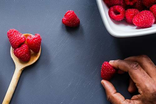 food strawberries on white ceramic plate plant