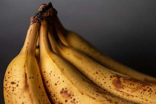 food yellow banana fruit in close up photography banana