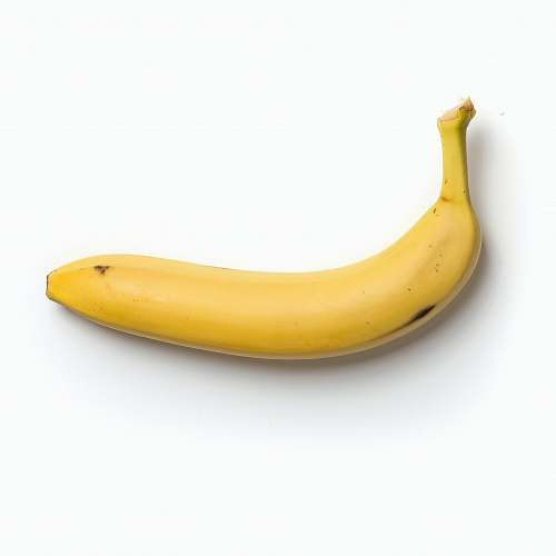 food yellow banana on white background banana
