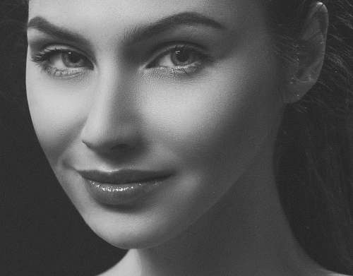 photo black-and-white woman's face face free for commercial use images