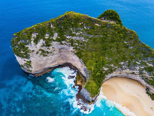 outdoors aerial photography of island during daytime land