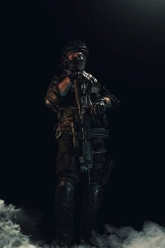 human soldier illustration black