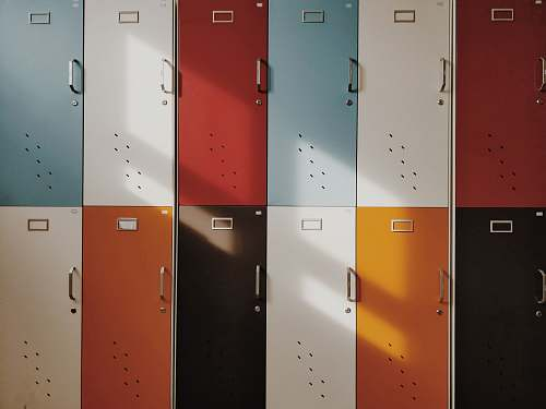 photo locker assorted-color lockers color free for commercial use images