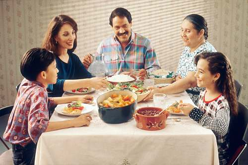 human group of person eating indoors family