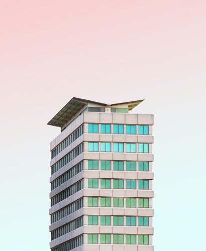 building gray concrete building illustration office building