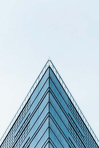 architecture blue building glass mirror triangle