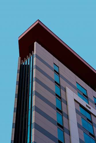 office building high rise building corner