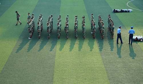 changsha platoon of soldier on field china