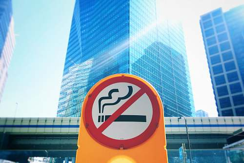 city no cigarette signage sign