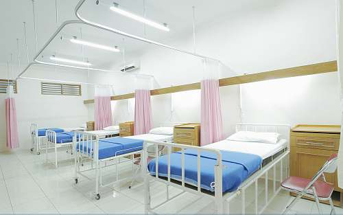 photo furniture empty hospital bed inside room healthcare free for commercial use images