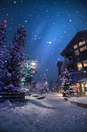 photo winter christmas village wallpaper snow free for commercial use images