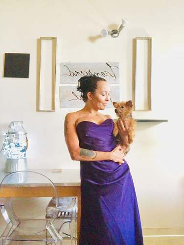 photo apparel woman holding dog evening dress free for commercial use images