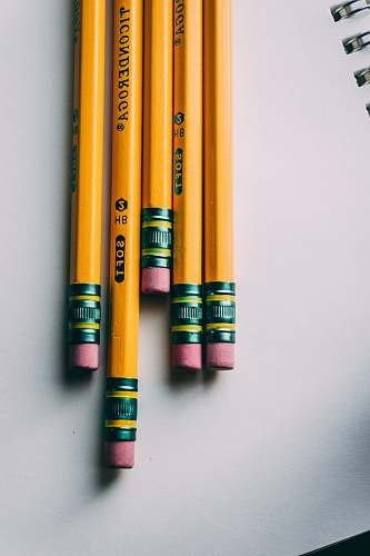 school five brown pencils pencil
