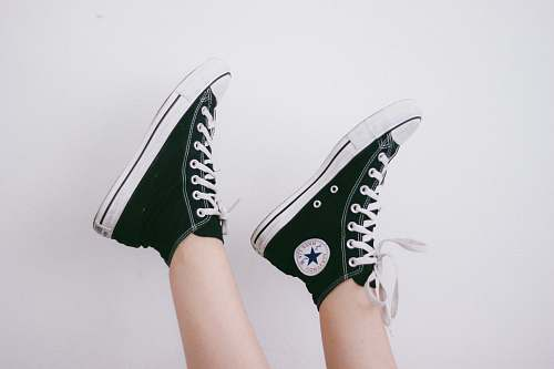 shoes black and black and white Converse All Star high-top sneakers shoe