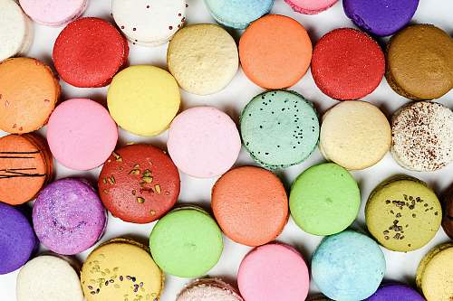 confectionery assorted-color macaroons sweets
