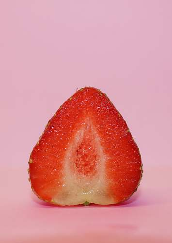 fruit sliced strawberry plant
