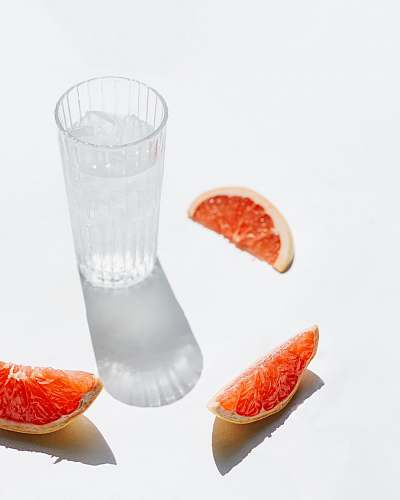 produce clear glass drinking cup plant