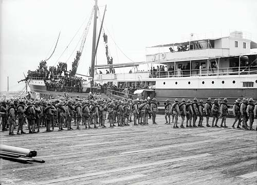 photo person grayscale photography of soldier marching beside passenger ship black-and-white free for commercial use images