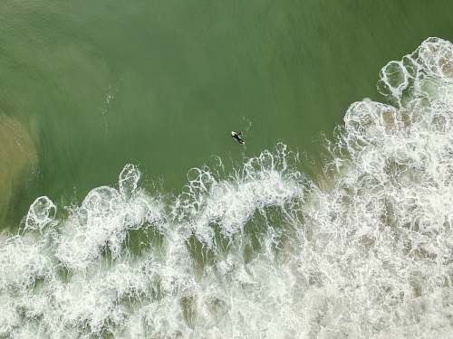 sea aerial photography of body of water outdoors