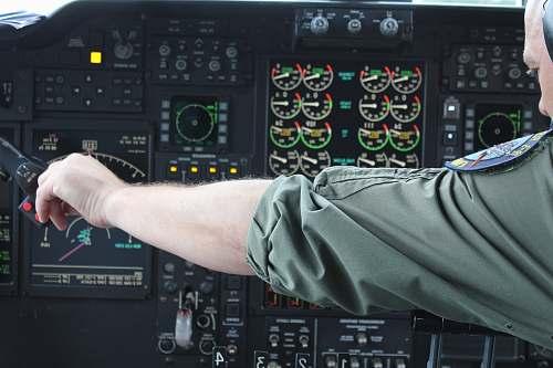arm photo of pilot calibrating knobs control