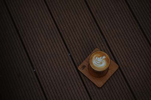 latte latte on ceramic mug art