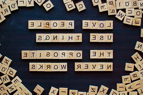 words cube letters english study