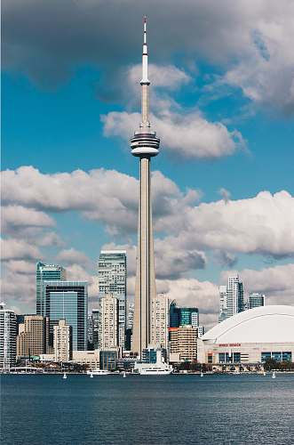 building photography of CN Tower, Canada harbourfront