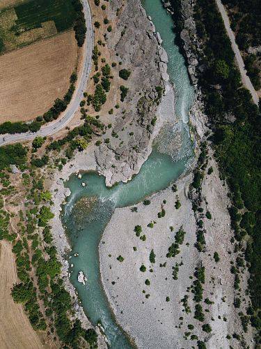 photo aerial photo of winding river free for commercial use images