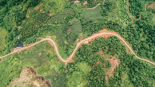 photo aerial photography of road free for commercial use images