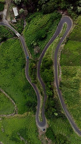 photo aerial photography of winding road free for commercial use images