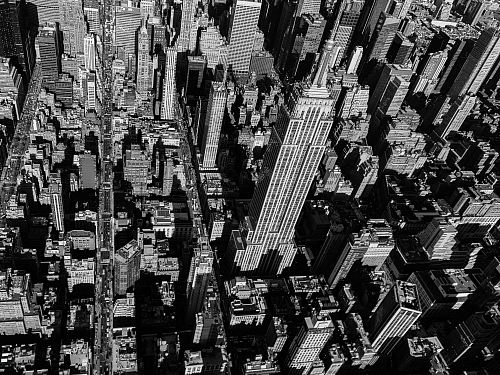 photo grayscale aerial photography of Empire State Building free for commercial use images