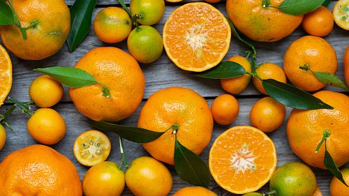 free for commercial use orange fruits on gray wooden surface images
