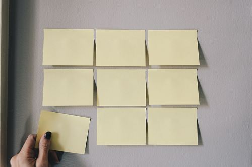 photo six white sticky notes free for commercial use images