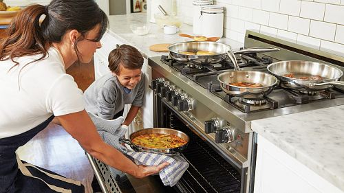 stainless steel 4-burner gas stove