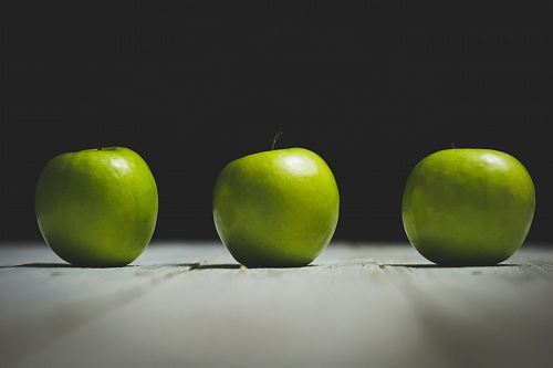 free for commercial use three granny smith apples images