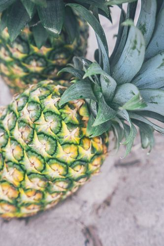 photo two ripe pineapples in macro photography free for commercial use images