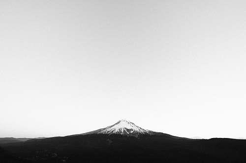 nature snowy mountain peak white