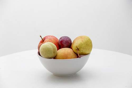 fruit bowl of fruits pear