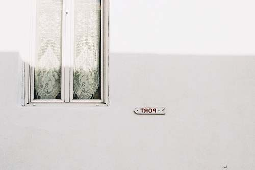 greece clear glass window with white frame white