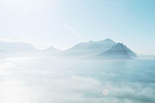 blue bird's-eye view photography of mountain sky