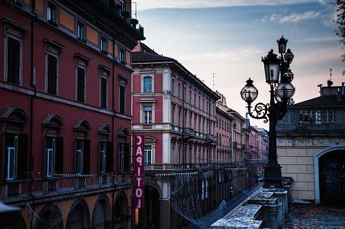 italy pink concrete building city