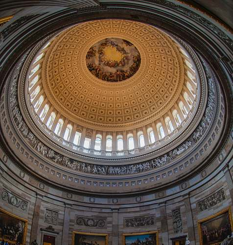 architecture gray and brown dome building interior ] apse