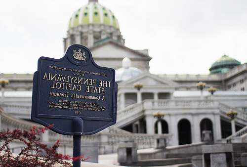 architecture The Pennysylvania State Capitol signage dome