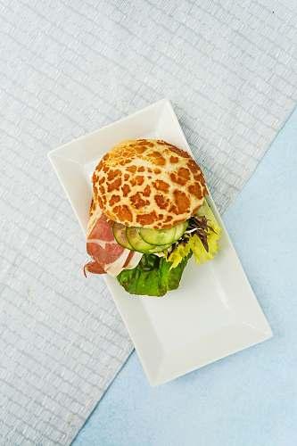 london flat-lay photo of pancake with bacon united kingdom
