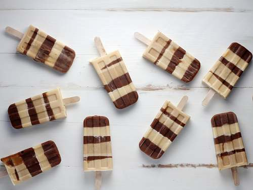 chocolate nine brown popsicles dessert