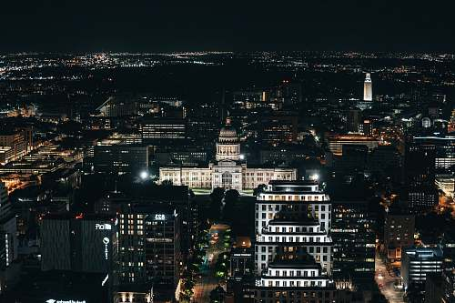 outdoors aerial photography of buildings during nighttime landscape