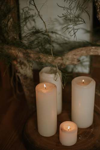 milk lit pillar candles drink