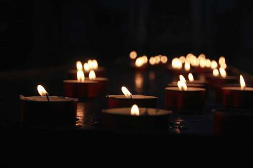 flame photo of lighted tealight candles venice