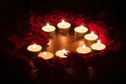diwali white teallight candle brown